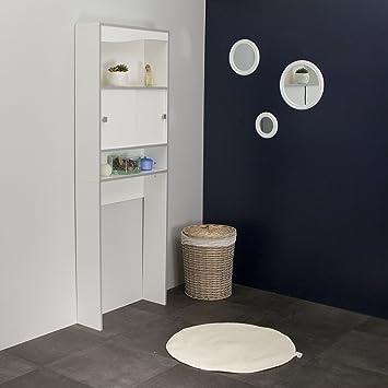 Meuble wc machine laver blanc chants gris for Chant meuble cuisine