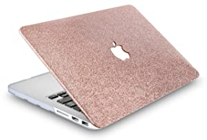 KECC Laptop Case for MacBook Pro 13 (2019/2018/2017/2016, with/Without Touch Bar) w/Keyboard Cover + Sleeve Plastic Hard Shell Case A2159/A1989/A1706/A1708 3 in 1 Bundle (Rose Gold Sparkling) (Color: Rose Gold Sparkling + Sleeve + Keyboard Cover, Tamaño: A2159/A1989/A1706/A1708 Mac Pro 13 2019/18)