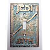 Star Wars (Jedi/Sith) Light Switch Cover (patina) (Color: patina)