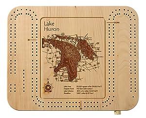 Little Falls Lake Laser Etched Cribbage Board
