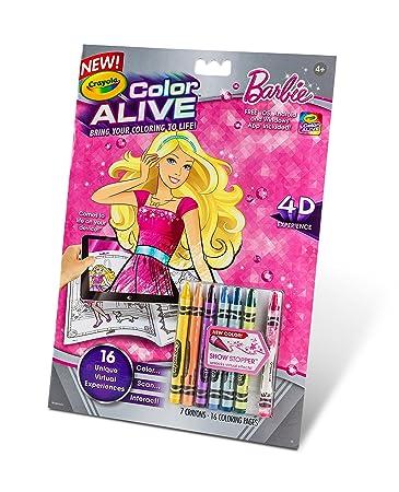 crayola color alive action coloring pages barbie - Crayola Color Online