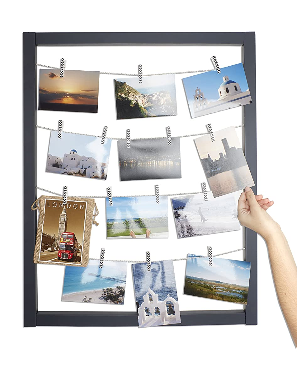 reimagine hanging photo display wood wall picture frame