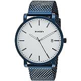 Skagen Men's SKW6326 Hagen Blue Mesh Watch (Color: Blue)