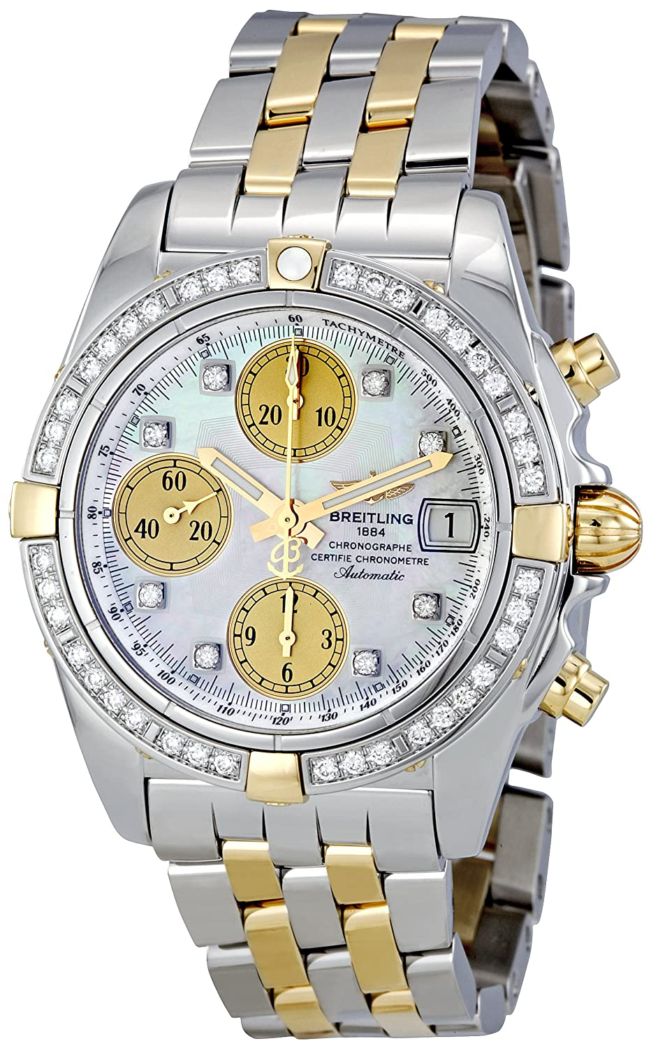 White Watches For Men - Breitling Men's Chrono Galactic White Dial Watch