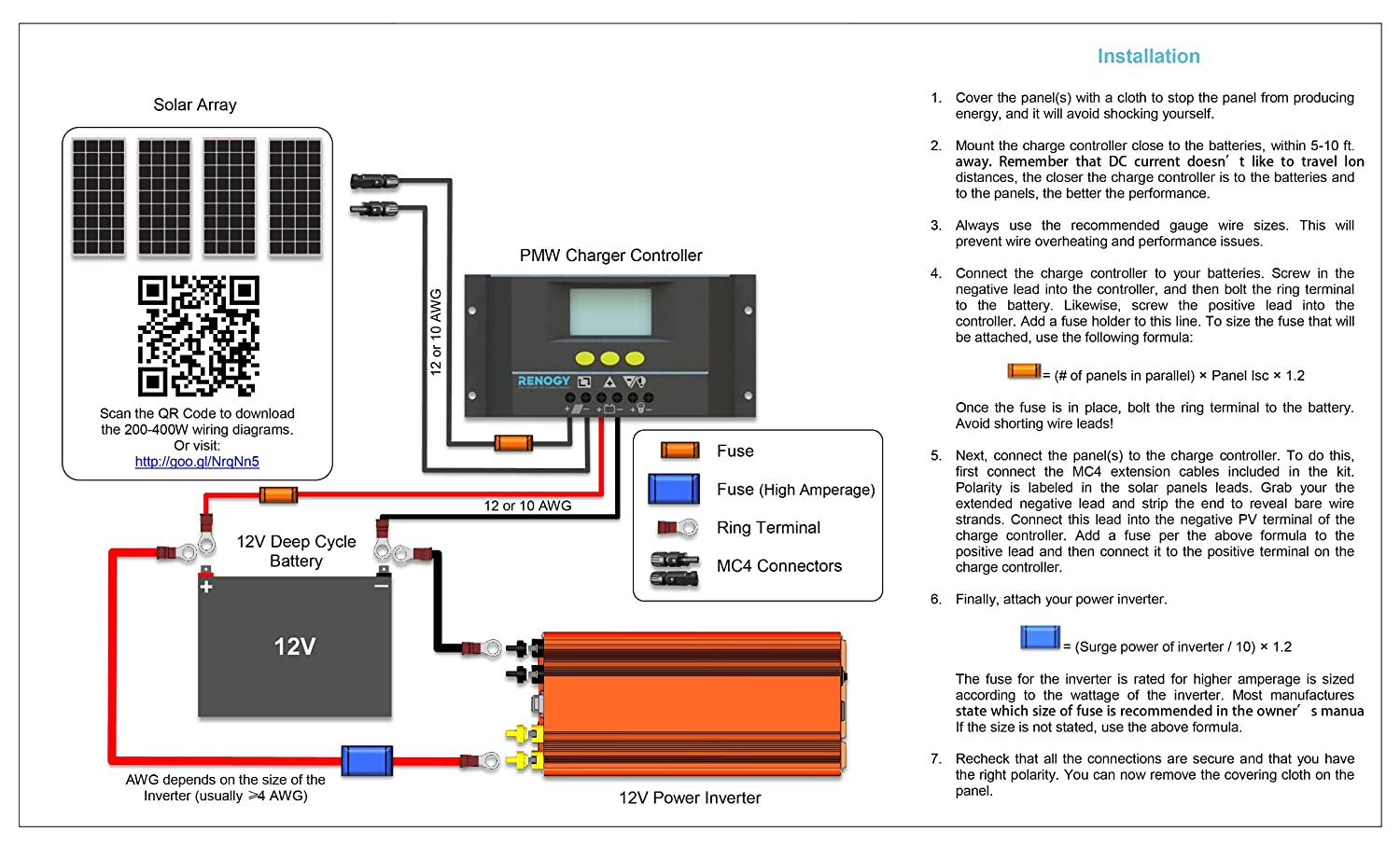 rv power inverter wiring diagram cheap rv living com installing a renogy 200 watt solar kit
