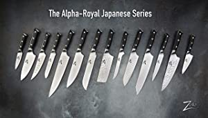 ZELITE INFINITY Chef Knife 10 Inch >> Alpha-Royal Series >> Best Quality Japanese AUS10 Super Steel 67 Layer High Carbon Stainless Steel, Incredible G10 Handle, Full-tang, Long & Deep 48mm Chefs Blade (Color: Black, Tamaño: Chef Knife 10)