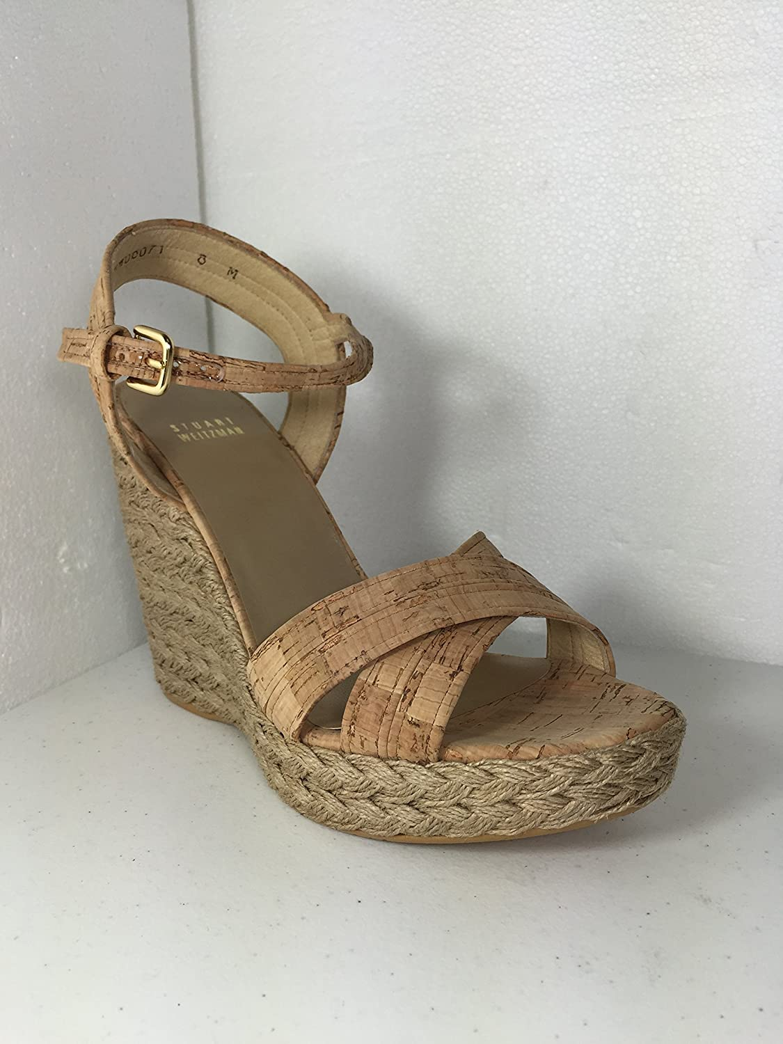 2f1995a782402 Images for Stuart Weitzman Women s Minky Minx Open Toe Wedge Sandals -  Natural Cork (8.5)