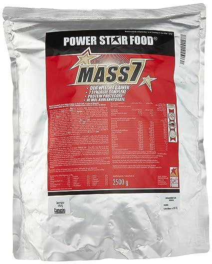 Powerstarfood Mass 7, Cappuccino, 1er Pack (1 x 2.5 kg)