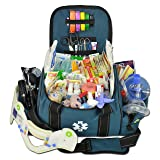 Lightning X Deluxe Stocked Large EMT First Aid Trauma Bag Fill Kit w/ Emergency Medical Supplies (Navy Blue) (Color: Navy Blue)