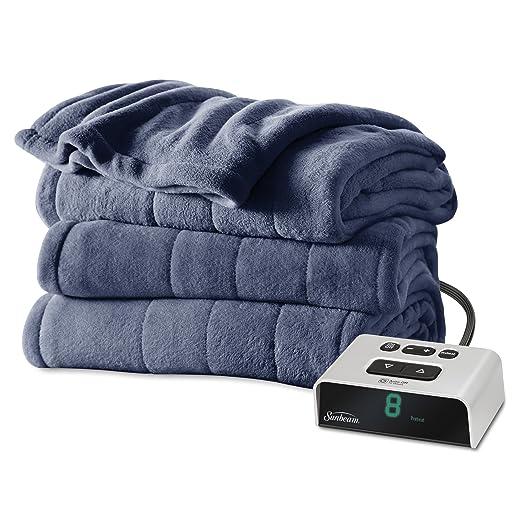 Sunbeam Microplush Heated Blanket, Twin, Lagoon, BSM9BTS-R596-16A00
