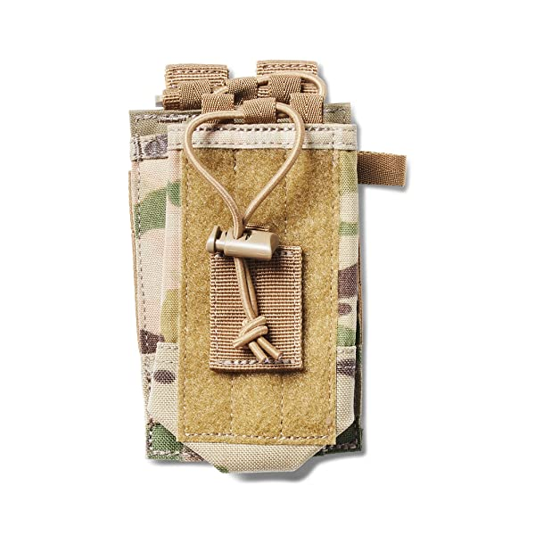 5.11 Radio Pouch Compatible with 5.11 Bags/Packs/Duffels, Style 56388, MultiCam (Color: MultiCam)