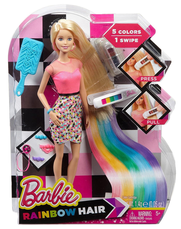Pubblicità di Cartoonito: Mattel Barbie CFN48 Capelli Arcobaleno