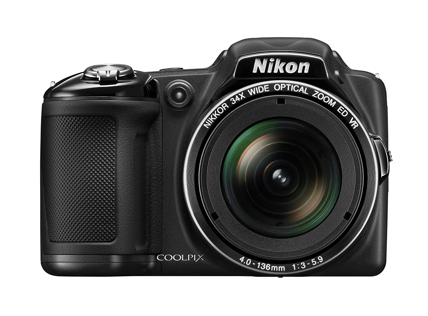 Nikon COOLPIX L830 16 MP CMOS Digital Camera with 34x Zoom NIKKOR Lens and Full 1080p HD Video (Black)