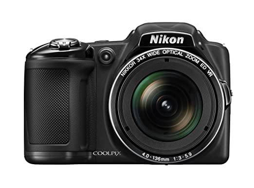 Nikon COOLPIX L830 16 MP CMOS Digital Camera with 34x Zoom NIKKOR Lens and Full 1080p HD Video Black Discontinued by Manufacturer