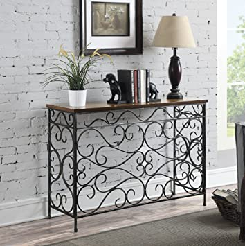 Convenience Concepts 227499 Wyoming Metal and Wood Console