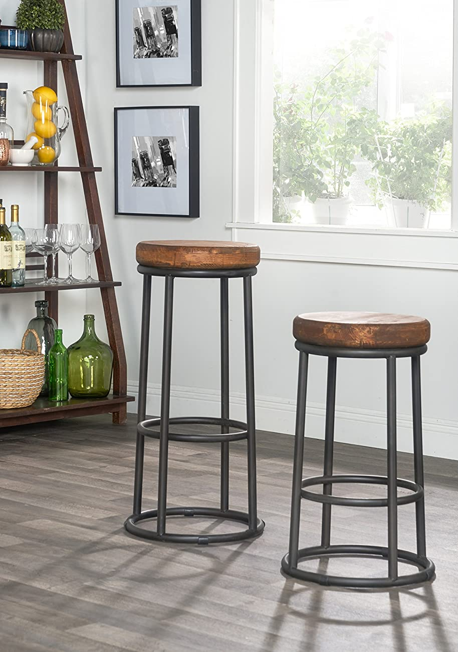 Derrick Bar Stool in Natural Wood 3