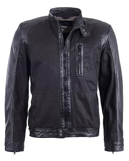 Tom Tailor Lederjacke, Herren 6010043 (black)