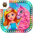Princess Girls Club - Play Tea Party, Make a Dress for Princess, Paint the Wall and Take Care of the Unicorn by TutoTOONS