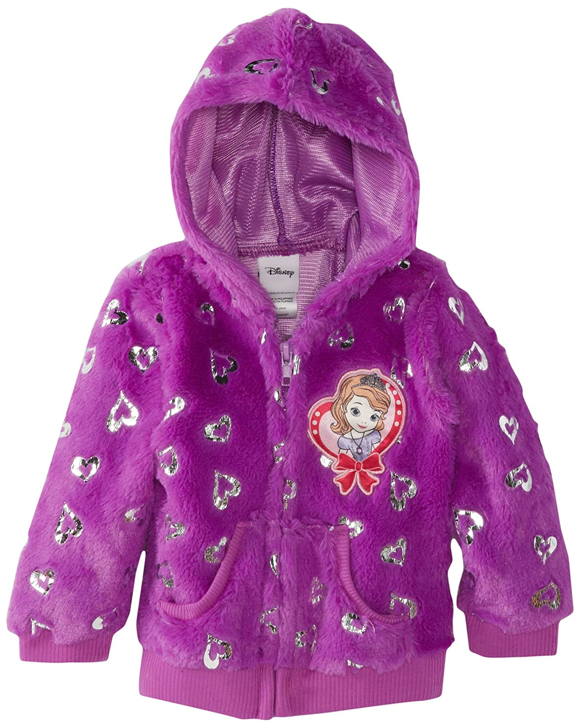 Disney Little Girls' Princess Foil-Heart Hoodie Jacket 0 09 thickness 0 09 100mm authentic 304 321 316 stainless steel col rolled bright thin foil tape strip sheet plate coil roll