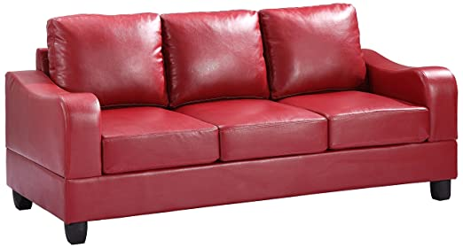 Glory Furniture G629-S Living Room Sofa, Red