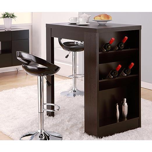 Metro Shop Furniture of America Miura Modern Cappuccino Multi-storage Bar Table-Cappuccino