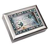 Cottage Garden You'll Never Know How Much You Mean to Me Musical Music Jewelry Box - Plays What a Wonderful World (Color: Brushed Silver - Wonderful World, Tamaño: 8 x 6 inches)