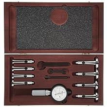 """Starrett 82CZ Dial Bore Gauge Complete Set, 0.560-1.565"""" Range, 0.0001"""" Graduation"""