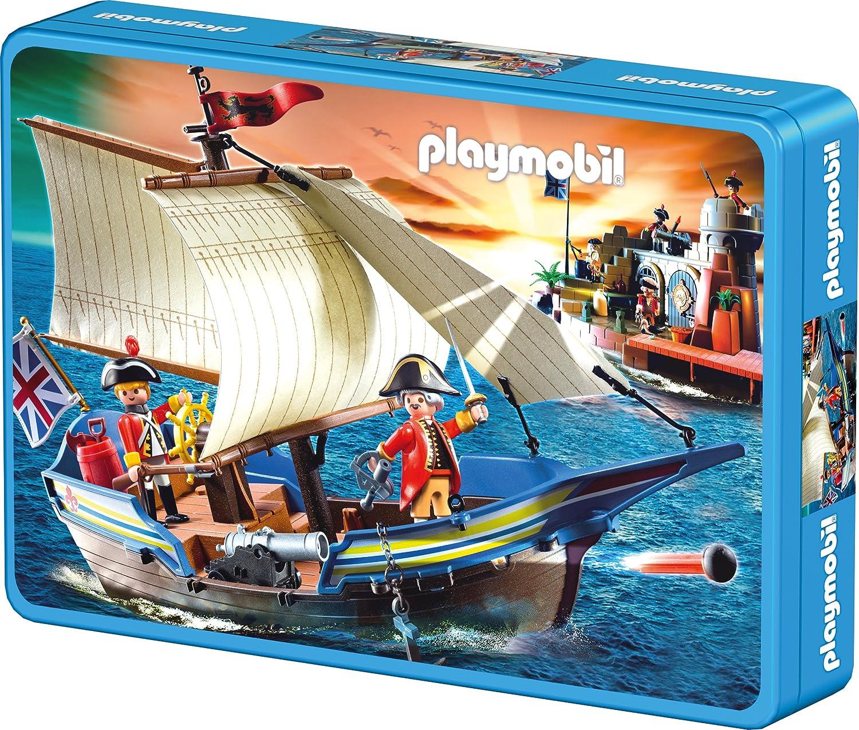 Schmidt Spiele 56606 – Playmobil, Segel gesetzt! Puzzle in der Metalldose Lizenz, 60 Teile kaufen