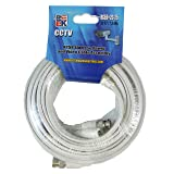 Blast King RG59+2C 25W 25-Feet White Siamese Coaxial Cable