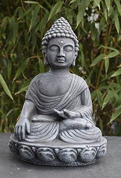 5 statue en pierre pierre bouddha gris ardoise - Statue bouddha interieur maison ...