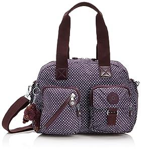 Kipling Defea, Sac porté main - Violet (Dot Pr Au), Taille Unique   Commentaires en ligne plus informations