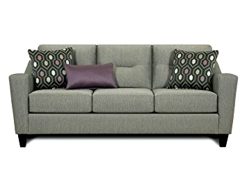 Furniture of America Martina Contemporary Sofa, Gray
