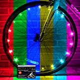 Activ Life LED Bike Wheel Lights with Batteries Included! Get 100% Brighter and Visible from All Angles for Ultimate Safety & Style (1 Tire Pack) (Color-Changing, 1-Wheel) (Color: Color-Changing, Tamaño: 1-Wheel)