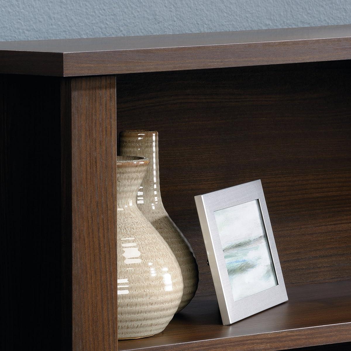 Sauder County Line Full/Queen Bookcase Headboard, Rum Walnut