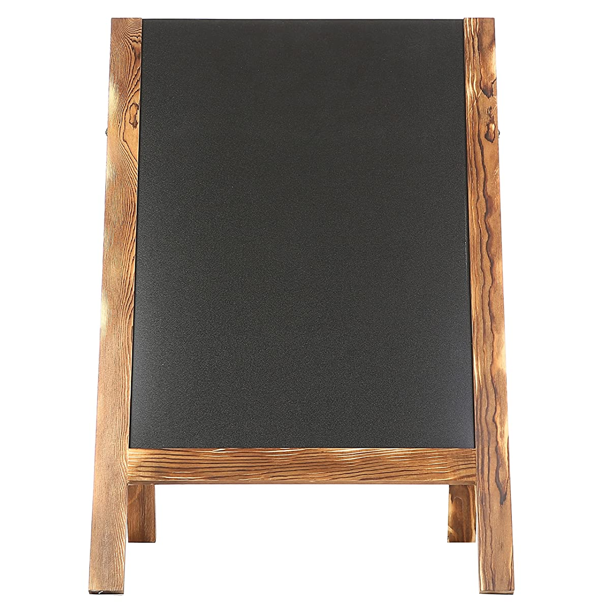 Rustic Wood A-Frame Double-Sided Chalkboard, Sidewalk Sandwich Message Board Sign