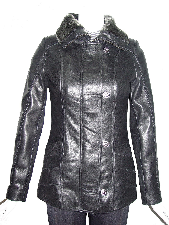 Nettailor 4175 Brauch Leder Motorrad Jacken damen Faux Fur trimmen Geldbu?e Lamm günstig bestellen