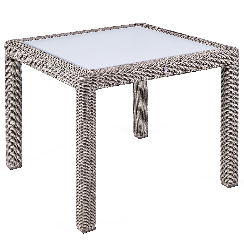 MBM 68.00.0510 Tisch Bellini 90 x 90 cm, koala, Glasplatte günstig
