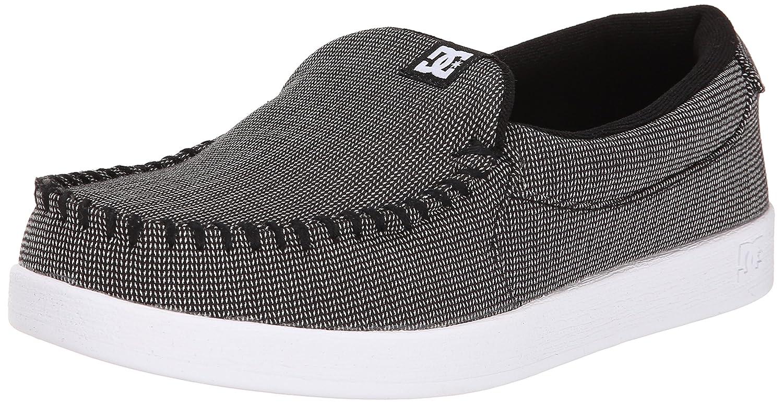 DC Men's Villain TX Skate Shoe, Black/Black/White, 12 M US