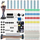 Smraza Basic Starter Kit with Breadboard, Power Supply, Jumper Wires, Resistors, LED, Compatible with Arduino UNO R3, Mega2560, Nano, Raspberry Pi