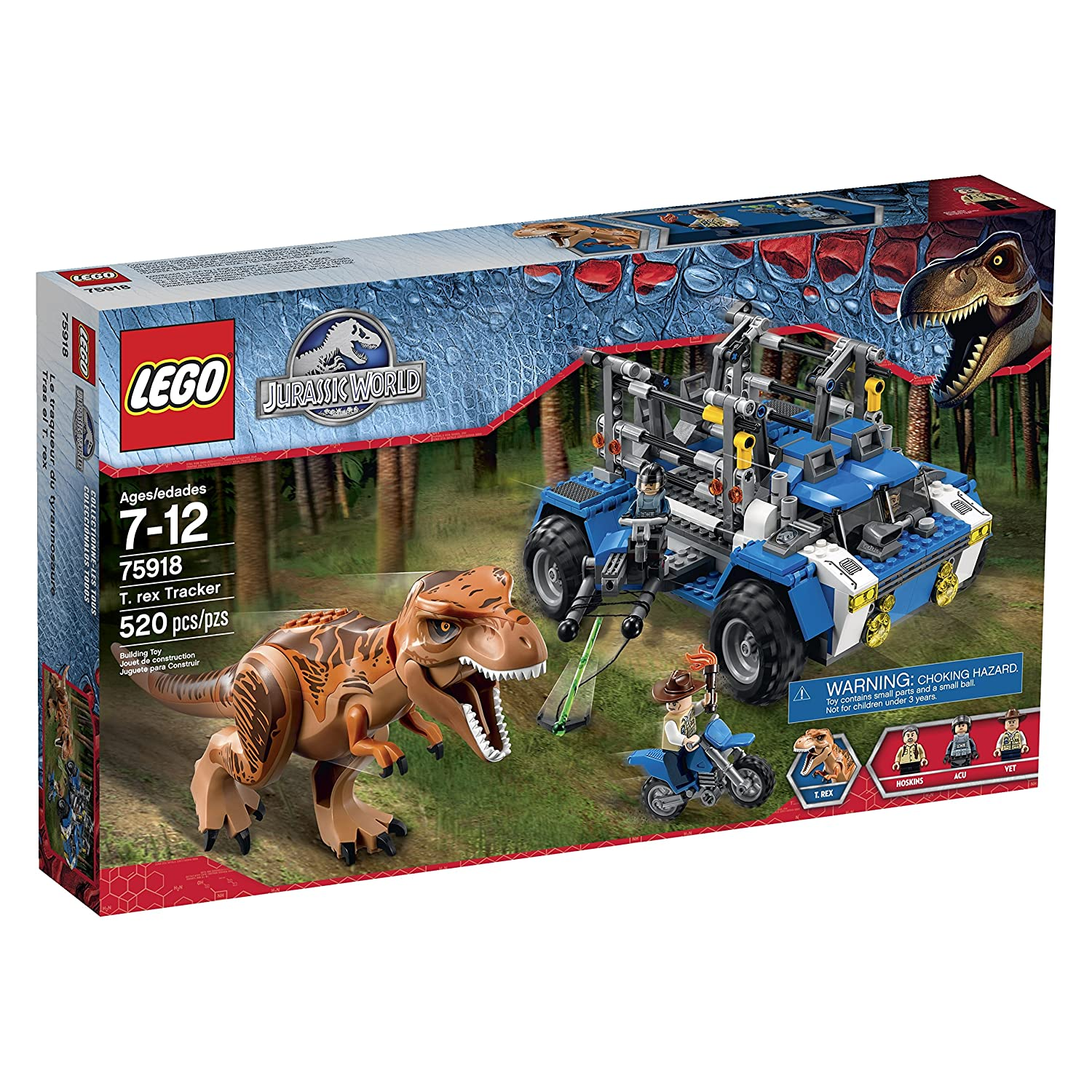 LEGO-Jurassic-World-T-Rex-Tracker-75918-Building-Kit