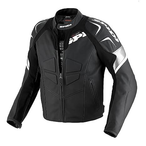 Spidi p 141-011 track blouson de moto en cuir-noir/blanc-taille 54