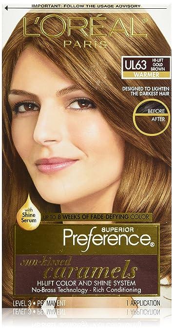 L'oreal Paris Preference Sun-Kissed Caramels Hi-Lift, Gold Brown UL63 at amazon