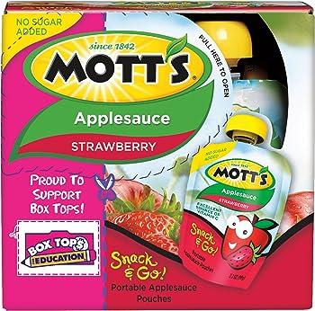 24-Pack Mott's Snack & Go Strawberry Applesauce