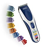 Wahl Clipper Color Pro Cordless Rechargeable Hair Clippers, Hair trimmers, 21 pieces Hair Cutting Kit, Color Coded guide combs For Women, Men, Kids and Babies By The Brand used by Professionals. #9649 (Color: Basic)
