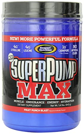 Gaspari Nutrition Super Pump MAX - Fruit Punch, 1er Pack (1 x 640 g)