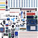 UNIROI Mega2560 UNO Kit for Arduino with Tutorials, Complete Starter Kit with Flame Sensor, 5V Relay Module, Resistance Card, DC Motor, Motion Detector and More (242 Items) UA003 (Tamaño: arduino mega2560 UNO starter kit)