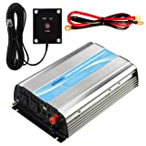 GIANDEL 1200Watt Power Inverter 12V DC to 110V 120V AC with 20A Solar Charge Controller Remote Control Dual AC Outlets & USB Port for RV Truck Solar System (Color: 1200W+Solar, Tamaño: 1200W+Solar)
