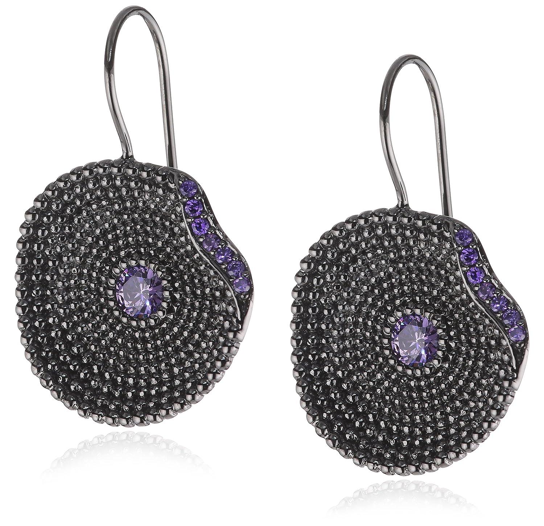 caï Damen-Ohrhänger 925 Sterlingsilber schwarz rhodiniert Zirkonia violett 35,8 mm C1293E/90/C6 bestellen