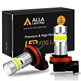 Alla Lighting 2800lm Xtreme Super Bright H11 LED Bulbs Fog Light High Illumination COB-72 LED H11 Bulb H8 H16 H11 Fog Lights Lamp Replacement - 6000K Xenon White (Color: 6000K White, Tamaño: H11 (H8,H16))