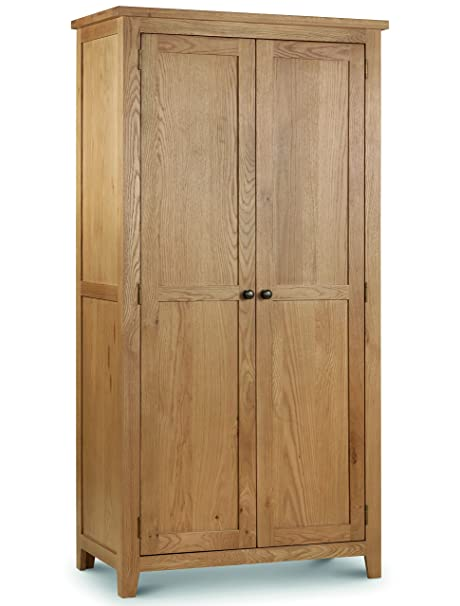 Julian Bowen Marlborough 2-Door Wardrobe, Waxed Oak